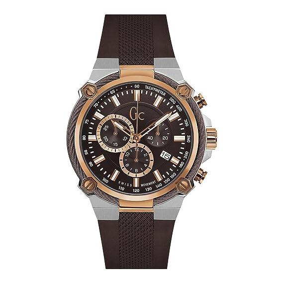 GC Gc CableForce Reloj de hombre cuarzo 44mm correa de silicona Y24004G4