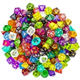 d and d dice - Wiz Dice Series II 100+ Pack of Random Polyhedral Dice - 15 Guaranteed Sets of Random Colors