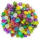 Wiz Dice Series II 100+ Pack of Random Polyhedral Dice - 15 Guaranteed Sets of Random Colors