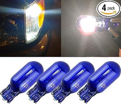 T10 lane light Halogen bulbs warm white clear glass original car 168 194 2825 17