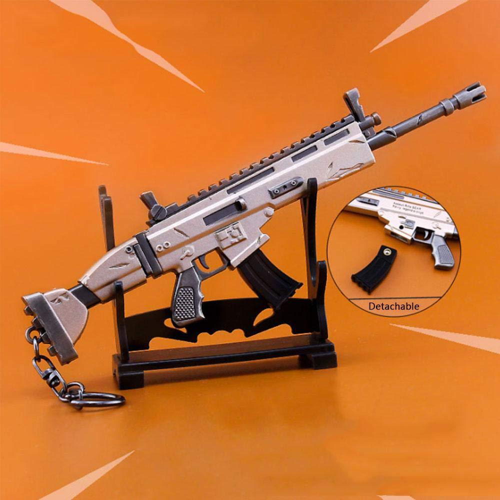 Foonee Scar Gun Toys, Pistola Rifle 3D Metal Weapon Modelo Keyring Toys Game Party Supplies Collection Gift Boys.: Amazon.es: Bebé