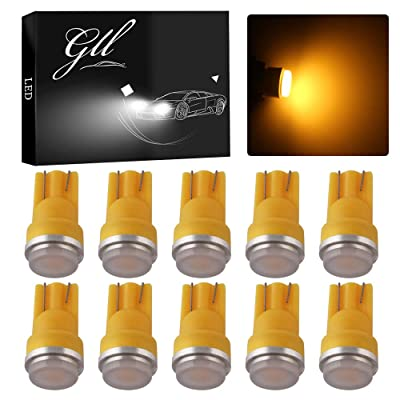 Grandview 10pcs 80 Lumens T10 194 192 175 168 2825 W5W 5630 2SMD Car LED Side Marker Center High Mount Stop Light Bulb Door Courtesy Light Bulbs Amber: Automotive