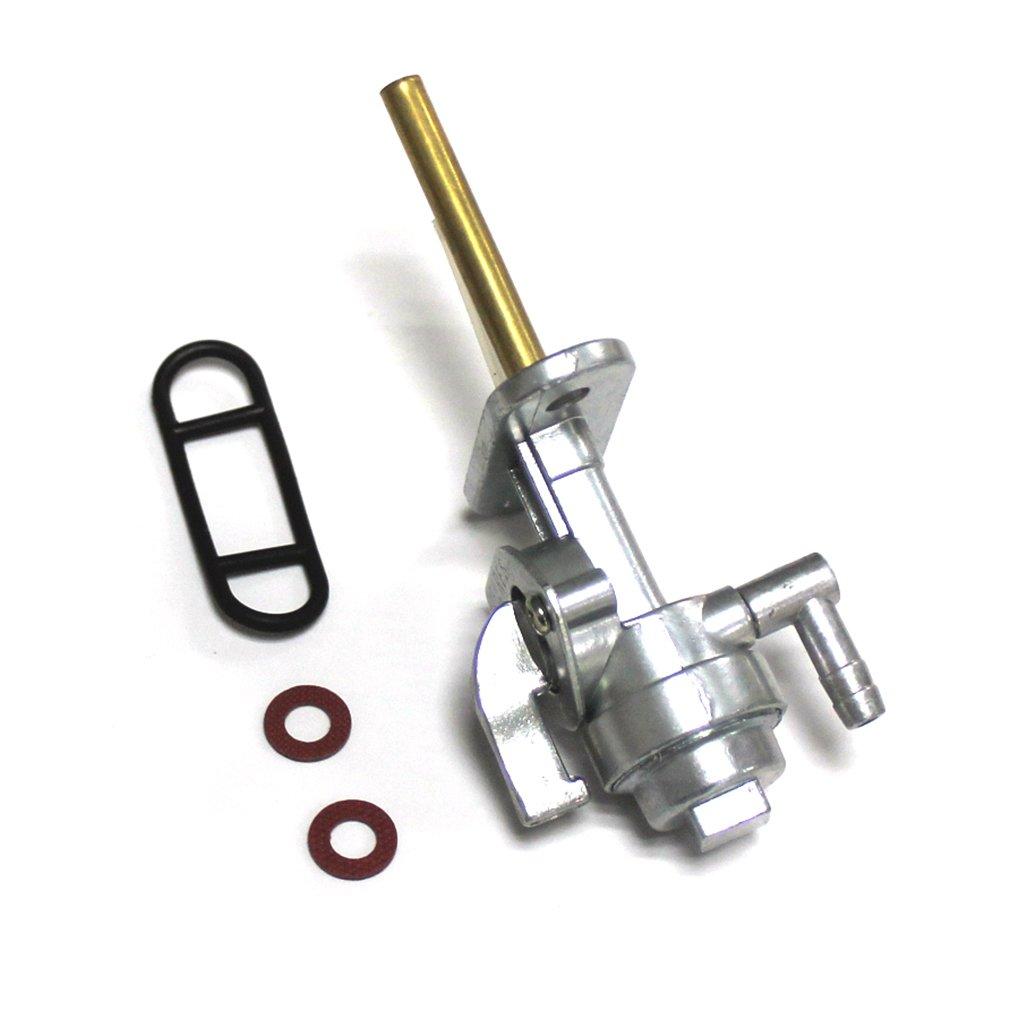 Aisen Essence Robinet Robinet de carburant pour Yamaha DT50/DT80/DT100/DT125/DT175/DT250/DT360/DT400/XT500/XT600/RD50/RD350/R/éservoir Essence R/éservoir