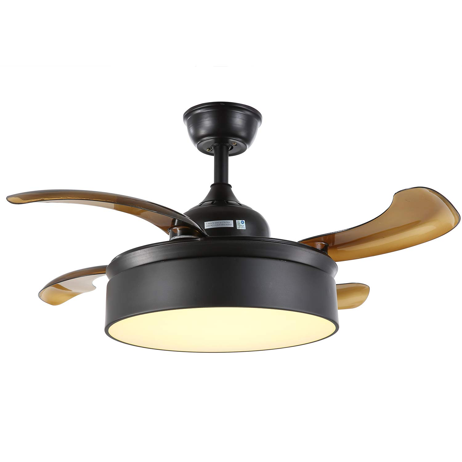 Moooni 36 inch Invisible Fandelier Retractable Ceiling Fans with ...