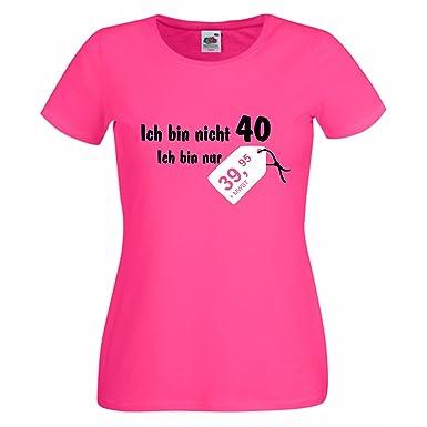 Damen T-Shirt Geburtstag Ich bin nicht 40 nur 39,95 Preisschild Fun  Amazon. de  Bekleidung 5ae4ab3161