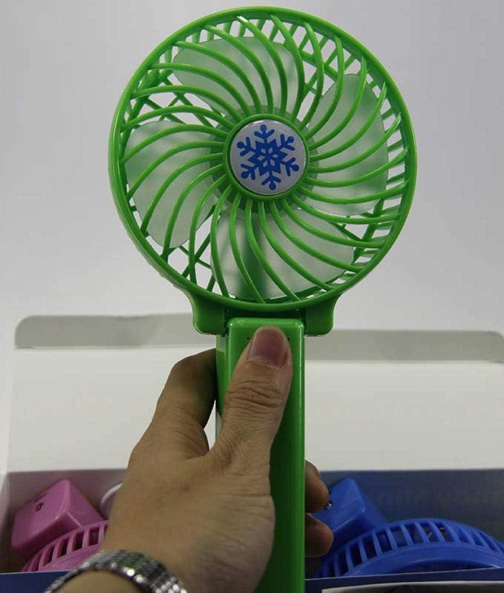 Portable Mini Fanmini Fan Apple USB Charging Fan Portable Handheld Cooling Fan@Dark Blue/_Standard 800 Mah Battery