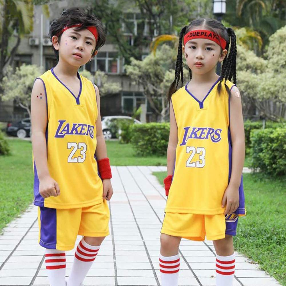 James #23 Lakers Boys Girls Basketball Jersey Vest and Shorts Set ...