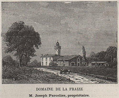 ENTRE-DEUX-MERS. FARGUES-SAINT-HILAIRE. Domaine de la Fraize. SMALL - 1908 - old print - antique print - vintage print - Gironde art prints ()