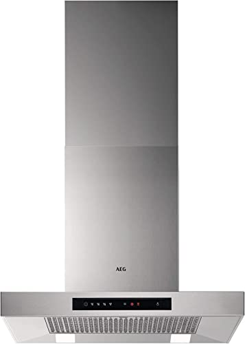 AEG DBB5660HM Campana extractora de pared, 60 cm, 4 velocidades, Potencia hasta de 779 m3/h, Nivel de ruido 55 dB(A), Luces LED, Sincronización automática con placa compatible, Inox, Clase A: 300.08: Amazon.es: