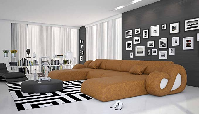 Salesfever Riesige Wohn Landschaft Aus Microfaser 485x242 Cm U Form