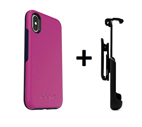 promo code 3999f 6fde7 OtterBox Symmetry Series Case for iPhone X and Xs - Retail Packaging - Mix  Berry JAM + Belt Clip Holster