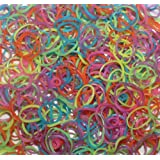 Generic 600-Piece Glow in the Dark Latex-Free Rubber Band Bracelet Loom Refill Pack
