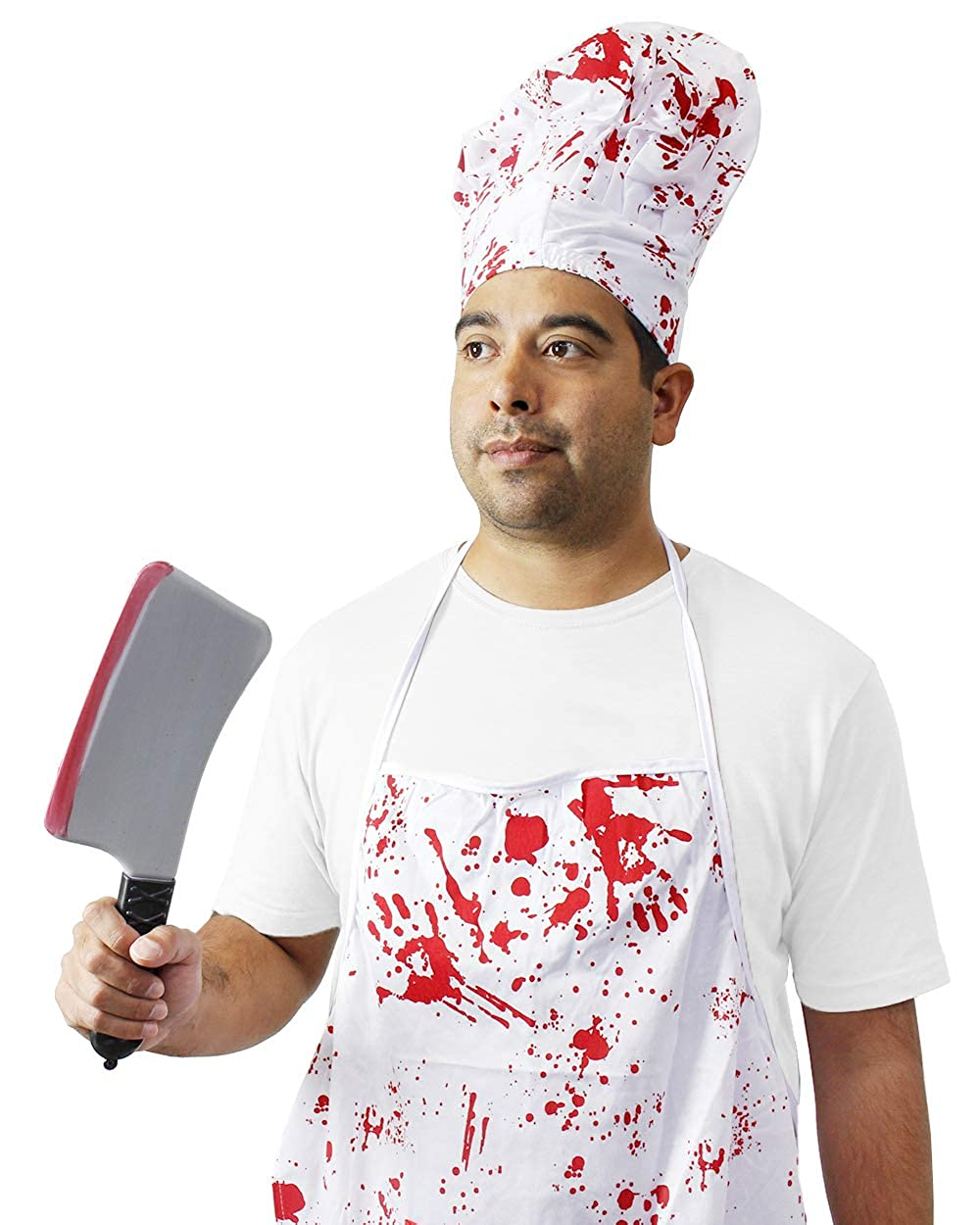 Amazon.com: Halloween Bloody Butcher disfraz – 3 conjuntos ...