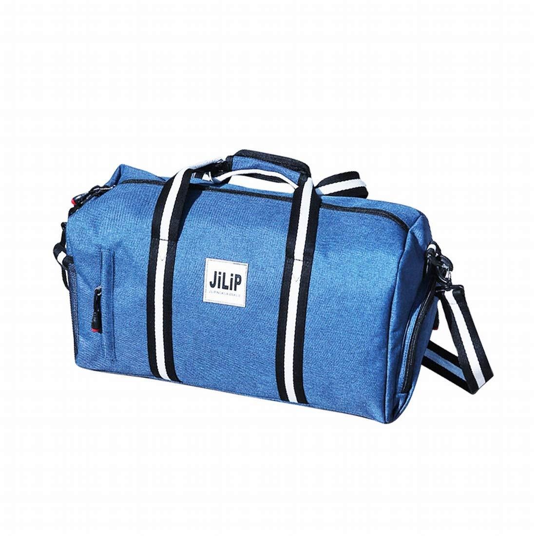blueee Kajuer Water Resistant Sports Gym Travel Weekender Duffel Bag Backpacks for Women Men (color   Black)