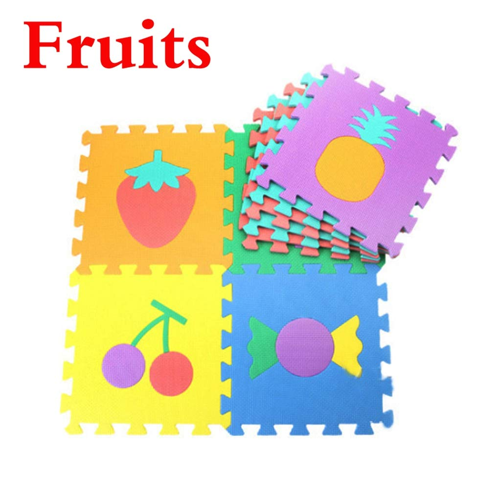 RXIN 10 pcs/Set Baby Play Mats Puzzle Mat Carpet Developing Rug Floor Puzzle Mat EVA Children Foam Carpet Mosaic Foor Child Toys Mat