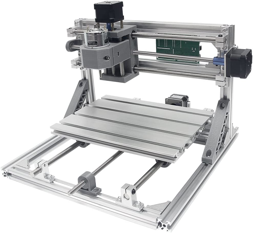 para pl/ástico Kit de fresado CNC 2418 GRBL para tallado de madera madera Wisamic acr/ílico PCB con /área de trabajo de 3 ejes PVC 240 x 180 x 45 mm