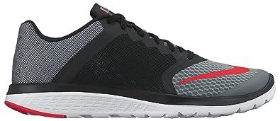 Nike Men's FS Lite Run 3 Cool Grey/Bright Crmsn/Black/White Running