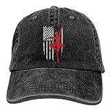 Arsmt American Ballet Dancer Denim Hat Adjustable Flag Baseball Caps