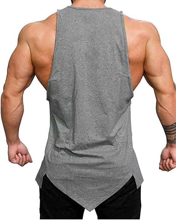 Muskelshirt,Fitness Shirt irregul/är /Ärmellos Weste COWBI Herren Athletic l/ässig Tank top,T-Shirt Unterhemden