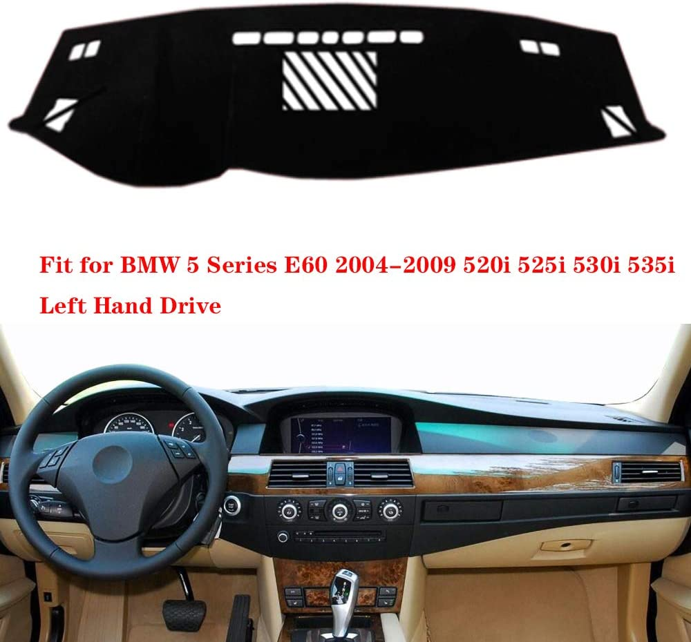 N2Qnice Dashmat for BMW 5 Series E60 2004-2009 520i 525i 530i 535i Left Hand Drive Dashboard Cover Dash Pad Car Mat Carpet Custom Car-Styling Accessories