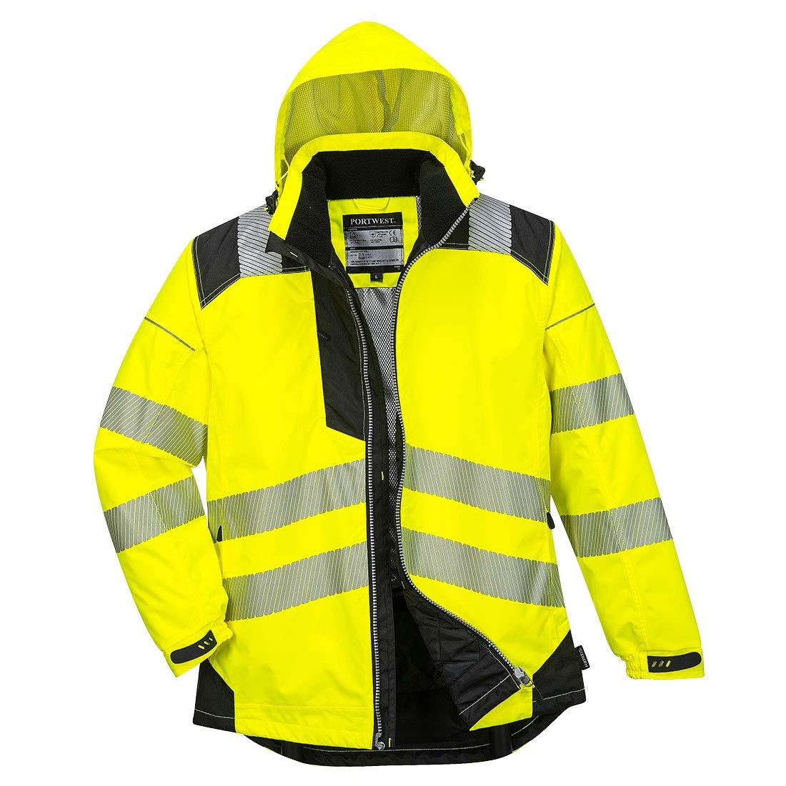 Portwest PW3 Hi-Vis Winter Jacket Work Safety Protective Reflective Waterproof Coat ANSI 3, XXL by Portwest (Image #2)
