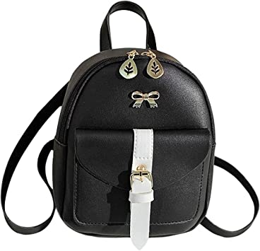 Mini 2 in 1 backpack shoulder bag with straps for women girls