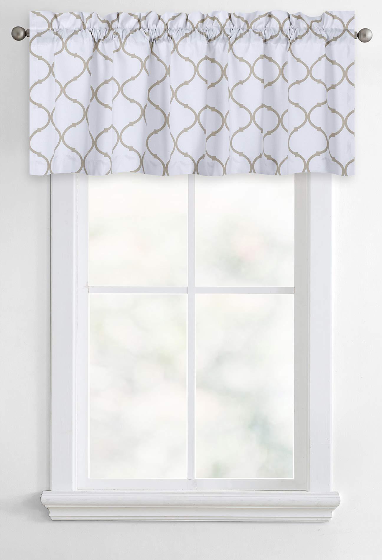 Regal Home Collections Shabby Quatrefoil Oversized Lattice Window Valance - Assorted Colors (Hunter Linen)