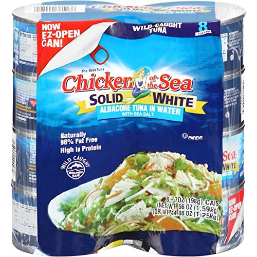 Chicken of the Sea Solid White Albacore Tuna in Water with Sea Salt- 8 Cans of 7oz - Sea Albacore