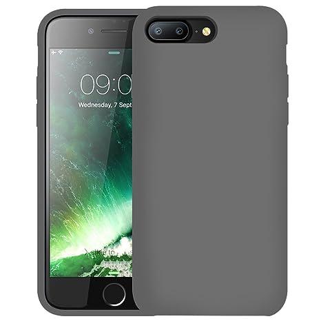 First2savvv gris Slim Fit Silicona iPhone 7 plus 5.5 Choque Absorbente Funda Carcasa Case Bumper con Absorción de Impactos Case Cover - ...