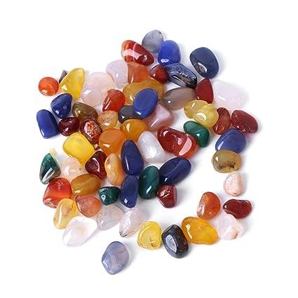 Dabixx - Coloridas piedras de ágata natural para decoración de peceras.