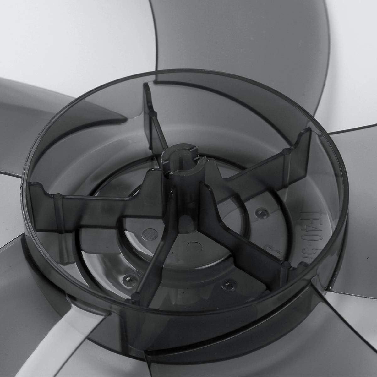 Freebily 400mm 16 Zoll Lüfterflügel 5/3 Blätter aus Kunststoff Blätter Ersatz für Haushalt Standfußlüfter Tischfan Bodenventilator Universal Zubehör Grau 3 Blätter