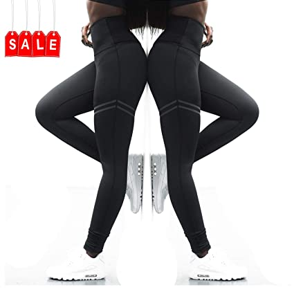 7c82d668cdd28 RIOJOY Yoga Pants for Women,High Waist Compression Fitness Sports Leggings  Trousers 4 Way Stretch