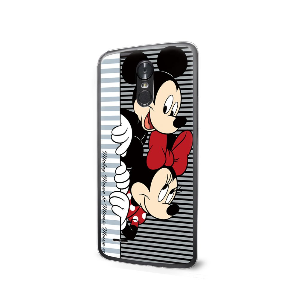 GSPSTORE LG K8 2017 Case Cartoon Mickey Minnie Mouse Plastic Protector Cover for LG Aristo/LG V3 MS210/LG LV3/LG Phoenix 3 Style2