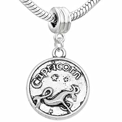 Amazon com: Capricorn Charm Dangle Bead for snake Chain charm