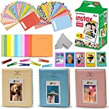 Xtech FujiFilm Instax Mini 9/8 Accessories Kit / Bundle with Fujifilm Instax Mini Instant Film (20 Sheets) + 3 Photo Albums + Colorful Frames + 60 Sticker Frames + Clip & String + More