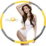 Weighted Hula Hoop for Exercise,Fat Burining,Dance-2lb,8 Section Detachable Design-2018 Professional Soft fitness hula hoop