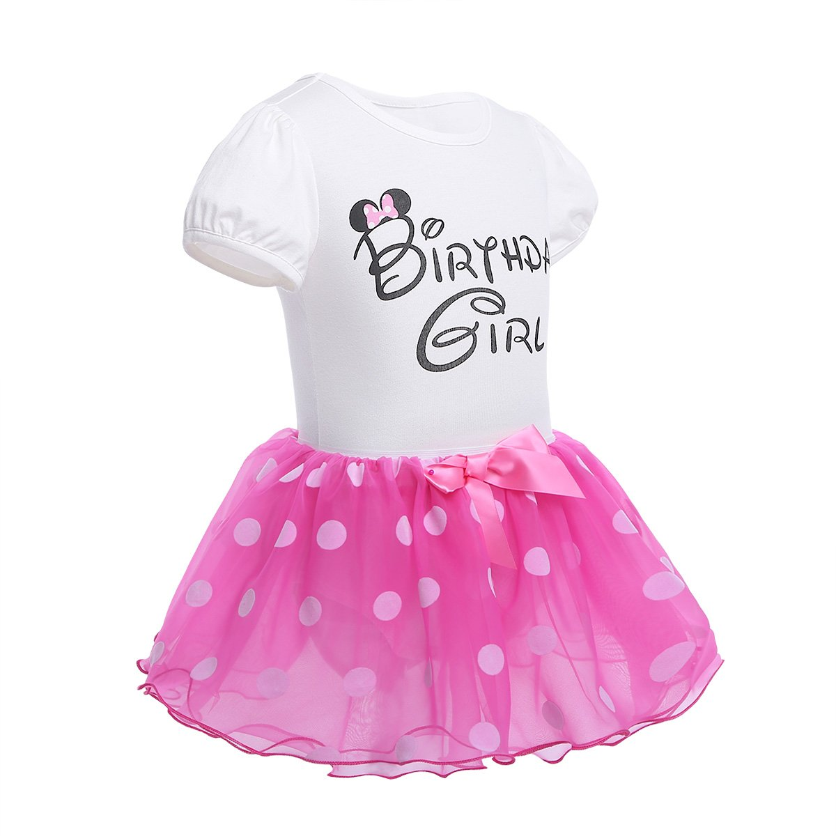 iiniim Newborn Baby Infant Toddler Girls Its My 1st Birthday Cake Smash Shiny Printed Sequin Bow Tutu Princess Dress Outfit