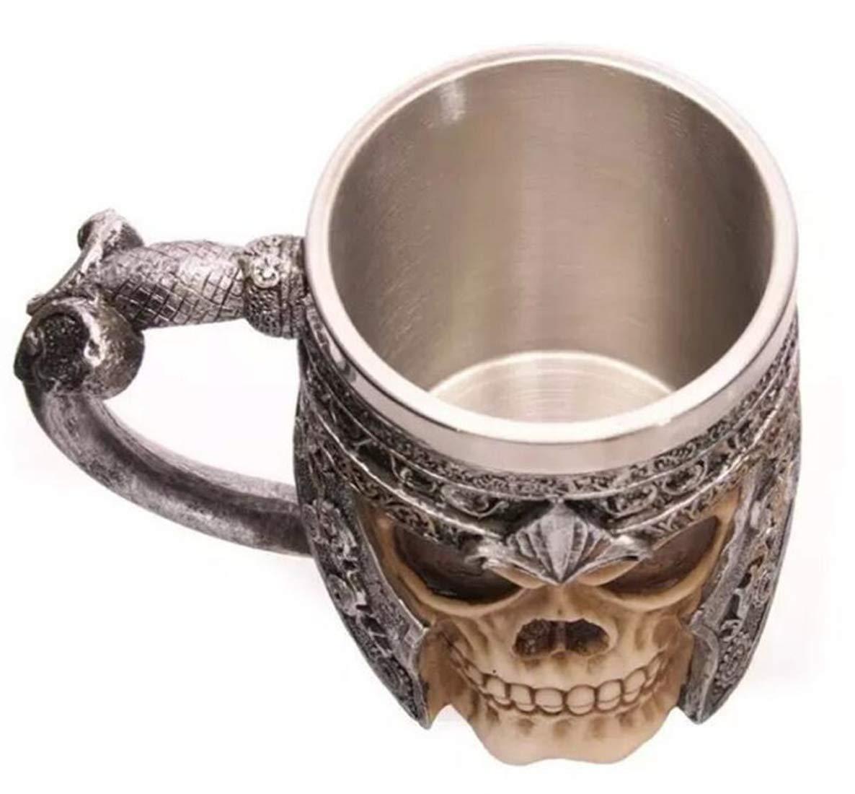 Birra Regali Feste Tazza del caff/è del Cranio in Acciaio Inox per Bevande caff/è STEAM PANDA Tazza del Cranio in Acciaio Inossidabile Tazza del Cranio in 3D