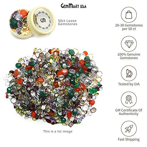50 + Carats Mixed Gem Natural Gem Mart Usa Loose Gemstone Mix Lot Wholesale Loose Mixed Gemstones Loose Natural Wholesale Gems Mix, Mix Gems, Mixed Gemstone, Gem Mart Usa Stones Lot by GemMartUSA Loose Gemstone