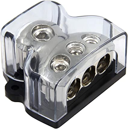 3 4//8 Ga Out w//Adapters Stereo Platinum ANL Distribution Block 0//2//4 In /& 3