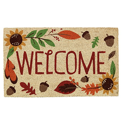 DII CAMZ10211 Fall Doormat, 18x30, Welcome Autumn