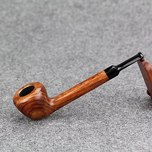MX-111 Tobacco Smoking Pipe Handmade Wooden Durable Tobacco Smoking Pipe Premium Handcrafted Red Wood Pipe