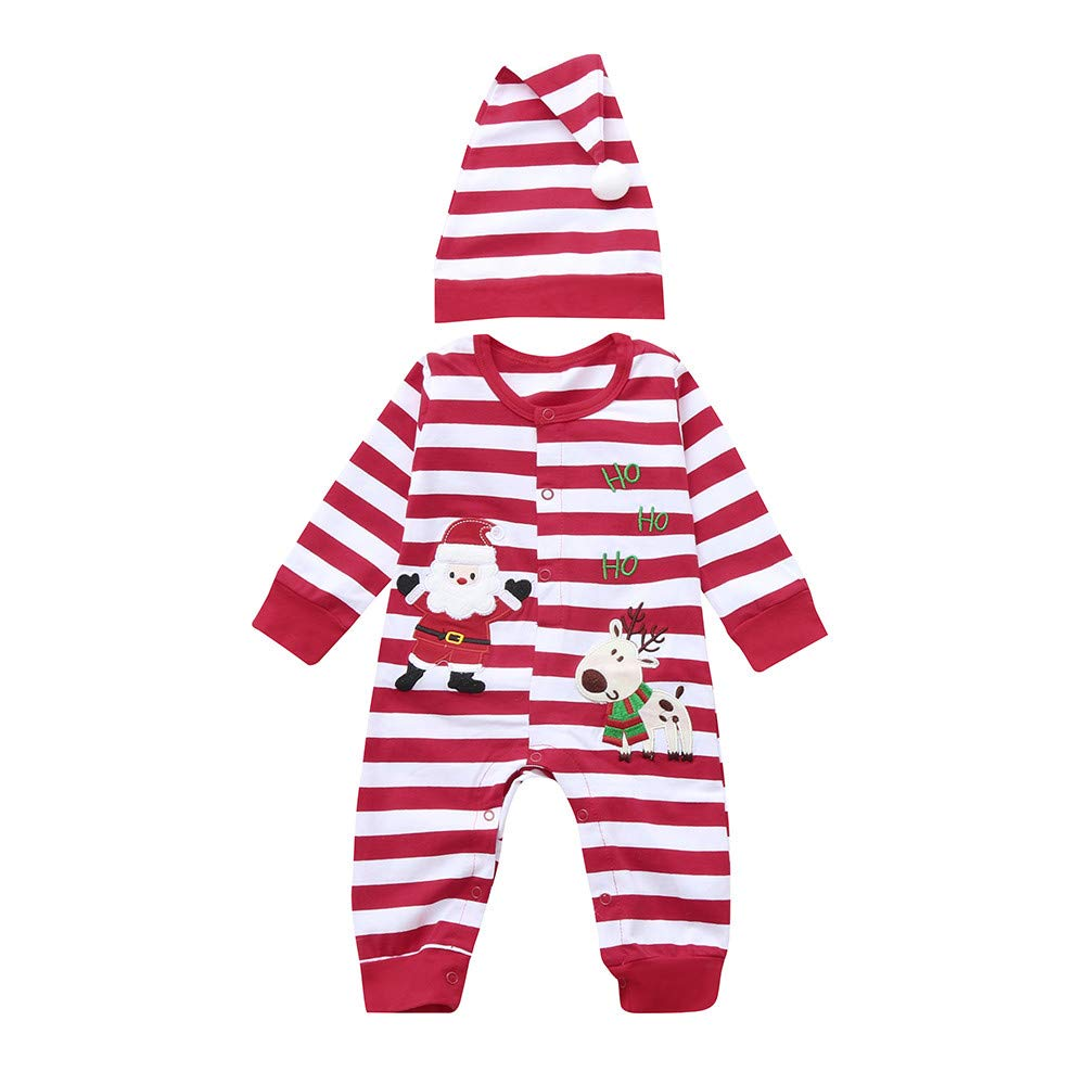 Vovotrade Infant Baby Outfits Boys Girls Thicker Print Hooded Romper Jumpsuit