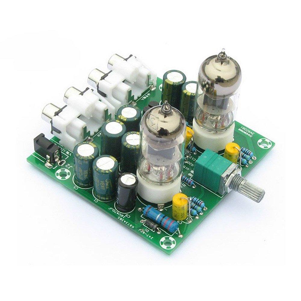 Lysignal Fever 6J1 Tube Amplificadores Tablero Preamplificador Preamplificador de auriculares Amplificador Audio Board Kits de bricolaje: Amazon.es: ...