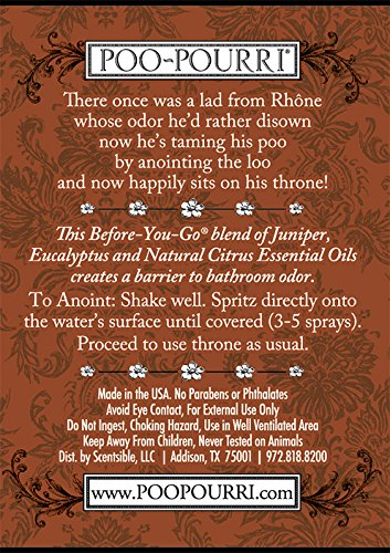 Poo-Pourri Before-You-Go Toilet Spray 4-Ounce Bottle, Juniper Woods - OLD BOTTLE STYLE