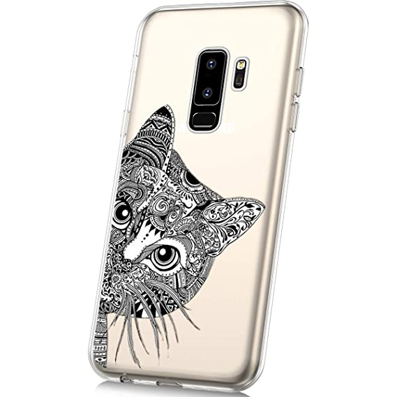 Amazon.com: Galaxy S9 Plus Silicone Case,MoreChioce Fashion Creative Painted Pattern Design Slim Transparent Silicon Protective Cover Compatible with ...