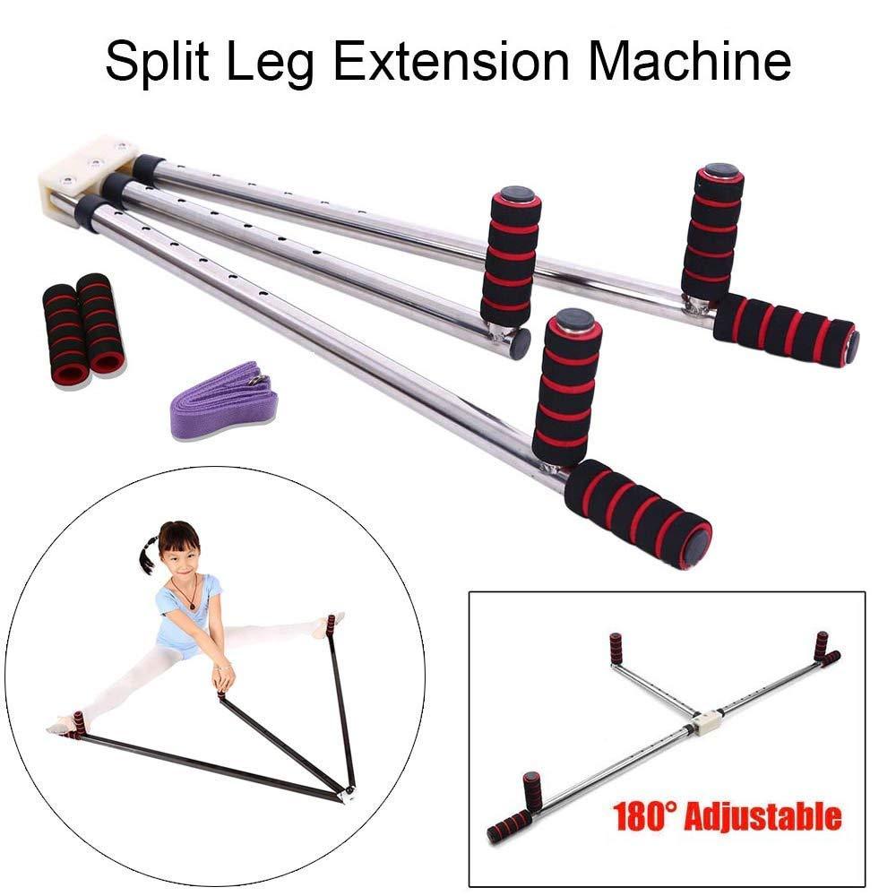 m/áquina pr/áctica de extensi/ón de piernas para gimnasio m/áquina de estiramiento dividido de piernas con 3 barras de estiramiento de piernas Equipo de estiramiento de ligamentos yoga y ballet