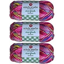Stitch Studio Yarn by Nicole, Storybook Fanfare (3 Skeins) Ribbon Candy Pink