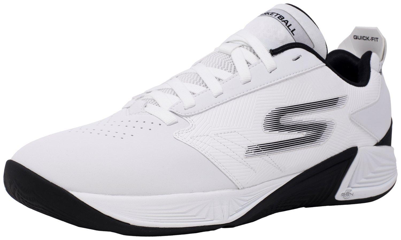 Skechers メンズ B07BLNFWLZ 12 D(M) US ホワイト/ブラック