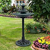 Apontus 3 Tier Fountain Garden Decor Pedestal Outdoor Bird Bath Water Fountain W/Pump